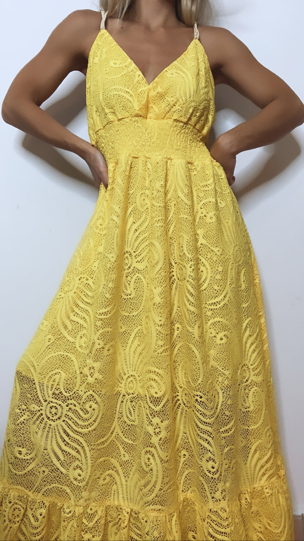 Yellow Lace Maxi