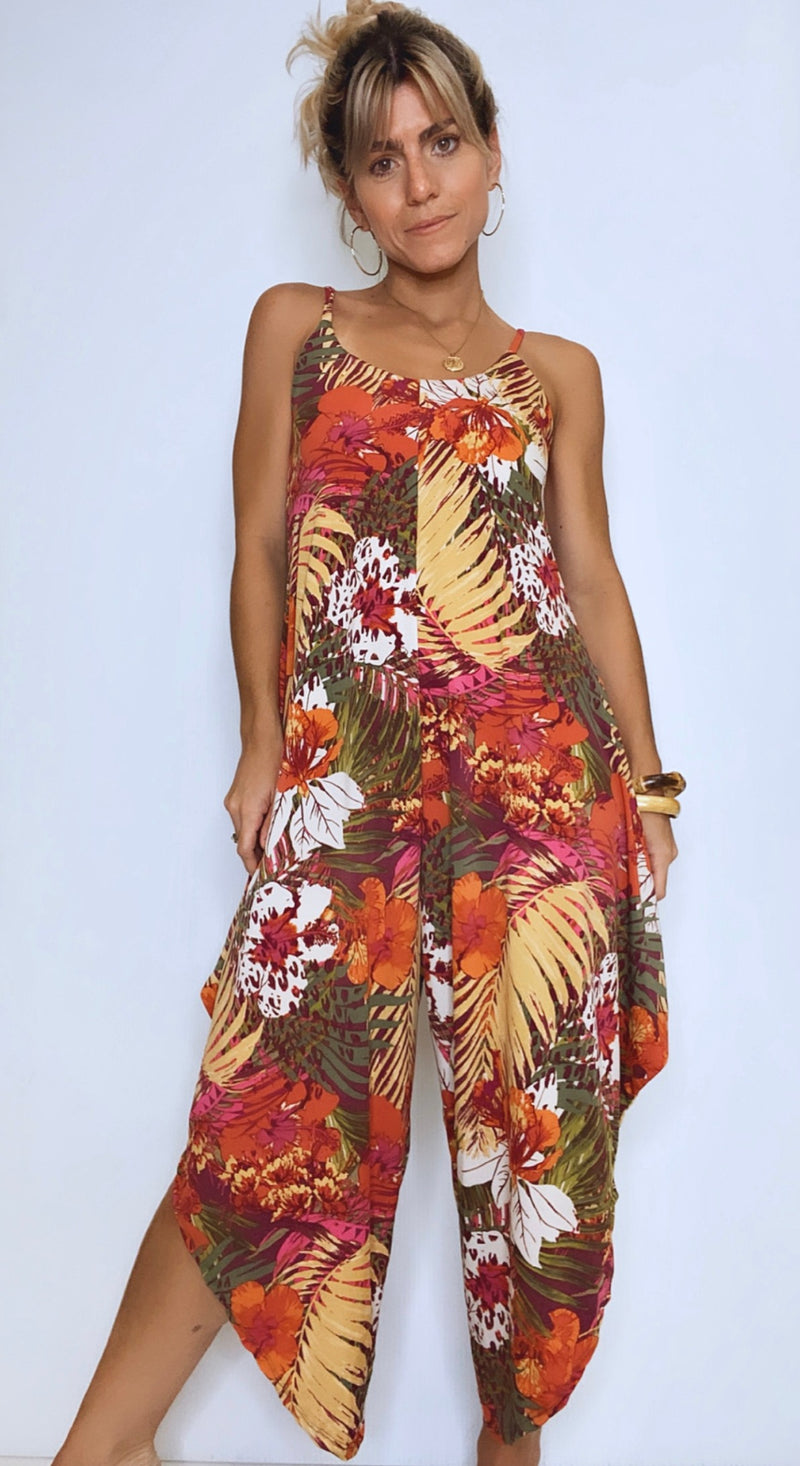 Pia Tropical Fall Jumpsuit