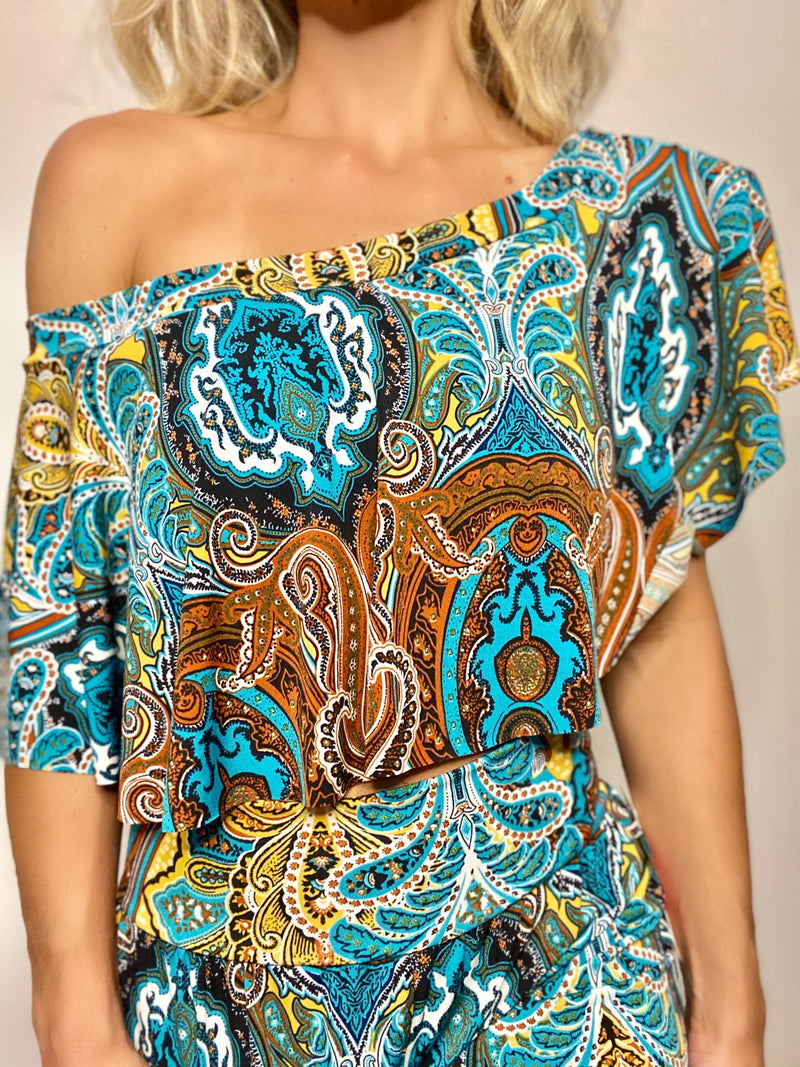 Pia Boho Fall Off Shoulder Top