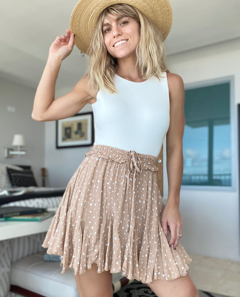 Nude Flair Skirt