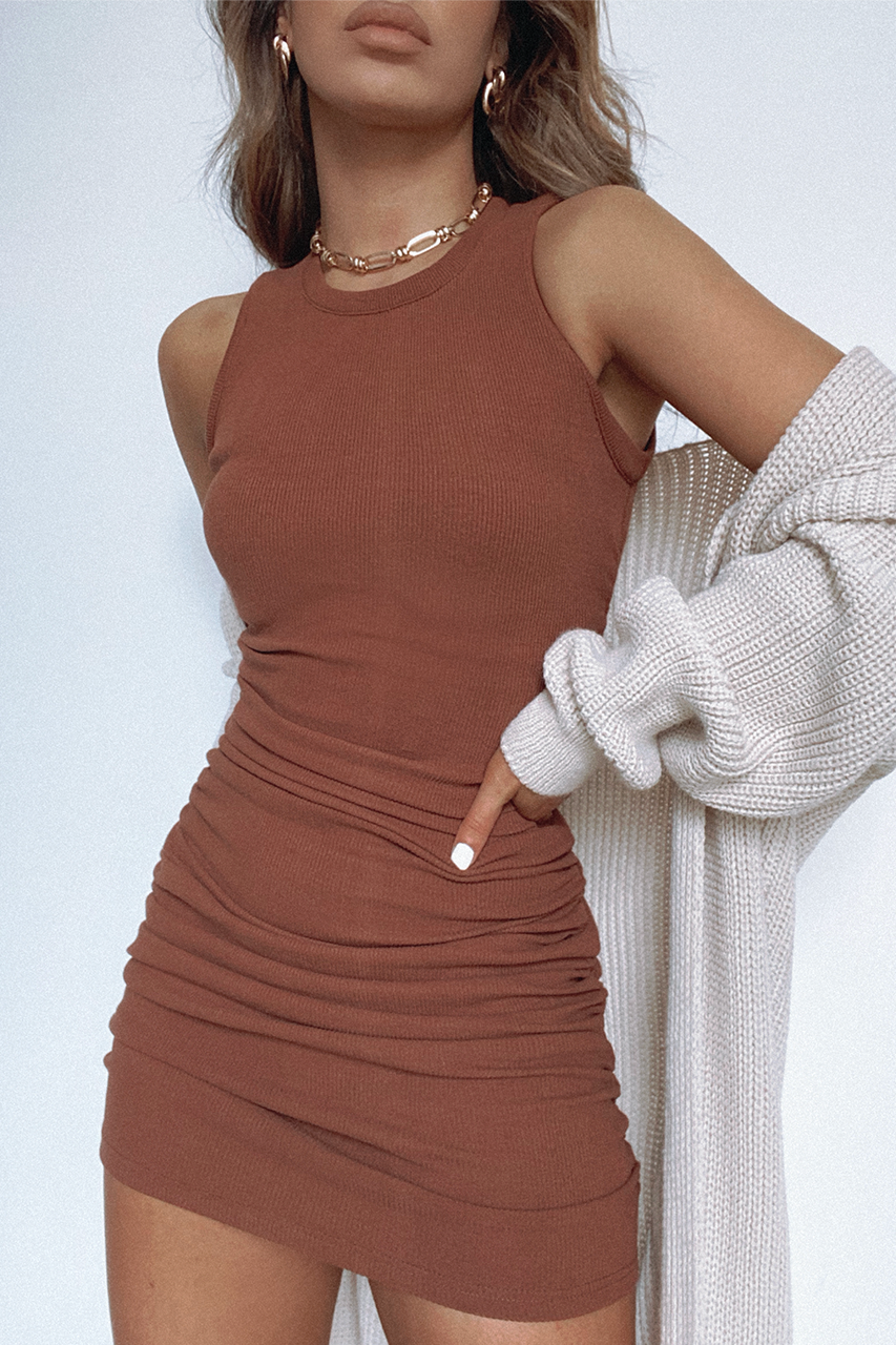 Choco Ribbed Dress
