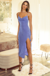 Slinky Slip Dress Periwinkle