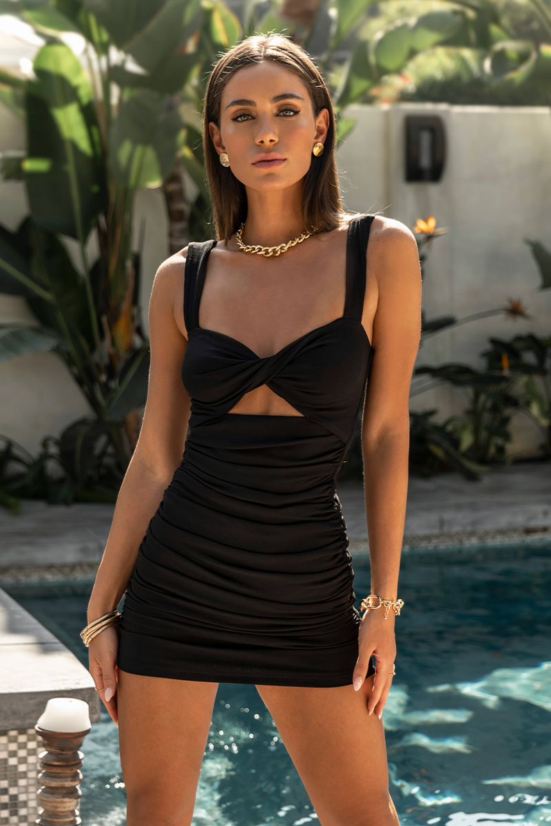 Black Twist Dress