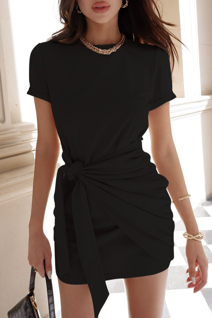 Black Winnie Shirt Dress