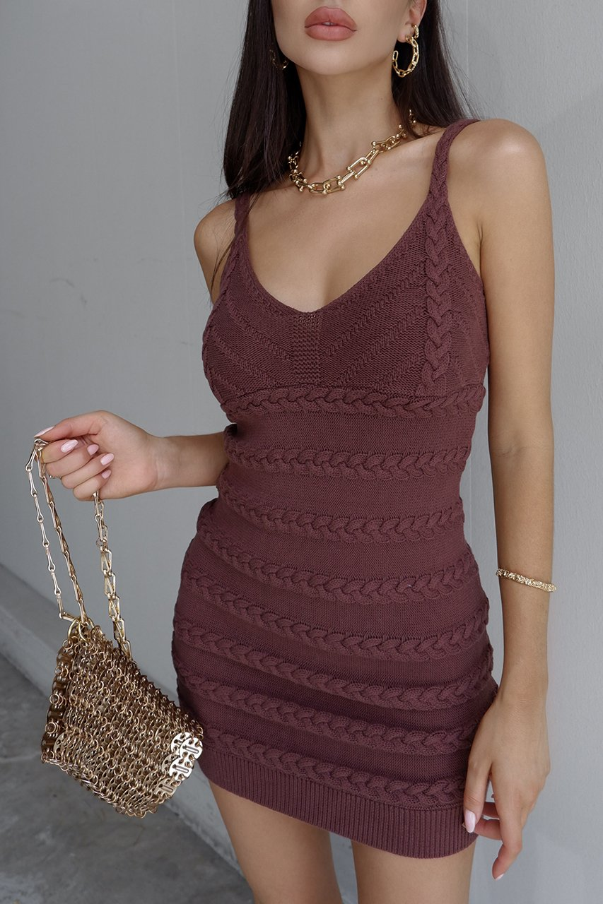 Dukes Chocolate Mini Dress