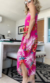Tropical Fuchsia Jumpsuit