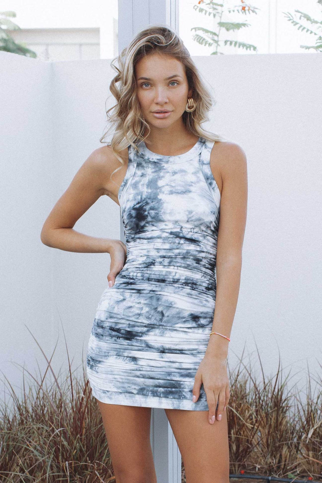 Black Tie Dye Eccentric Dress