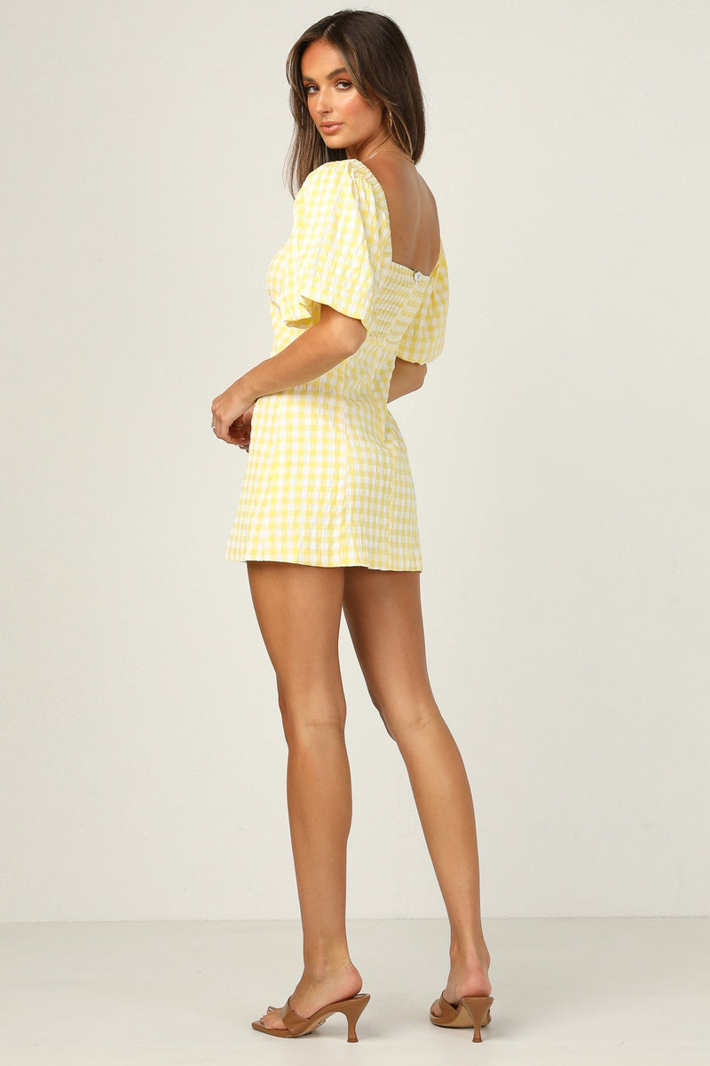 Yellow Gingham Mini