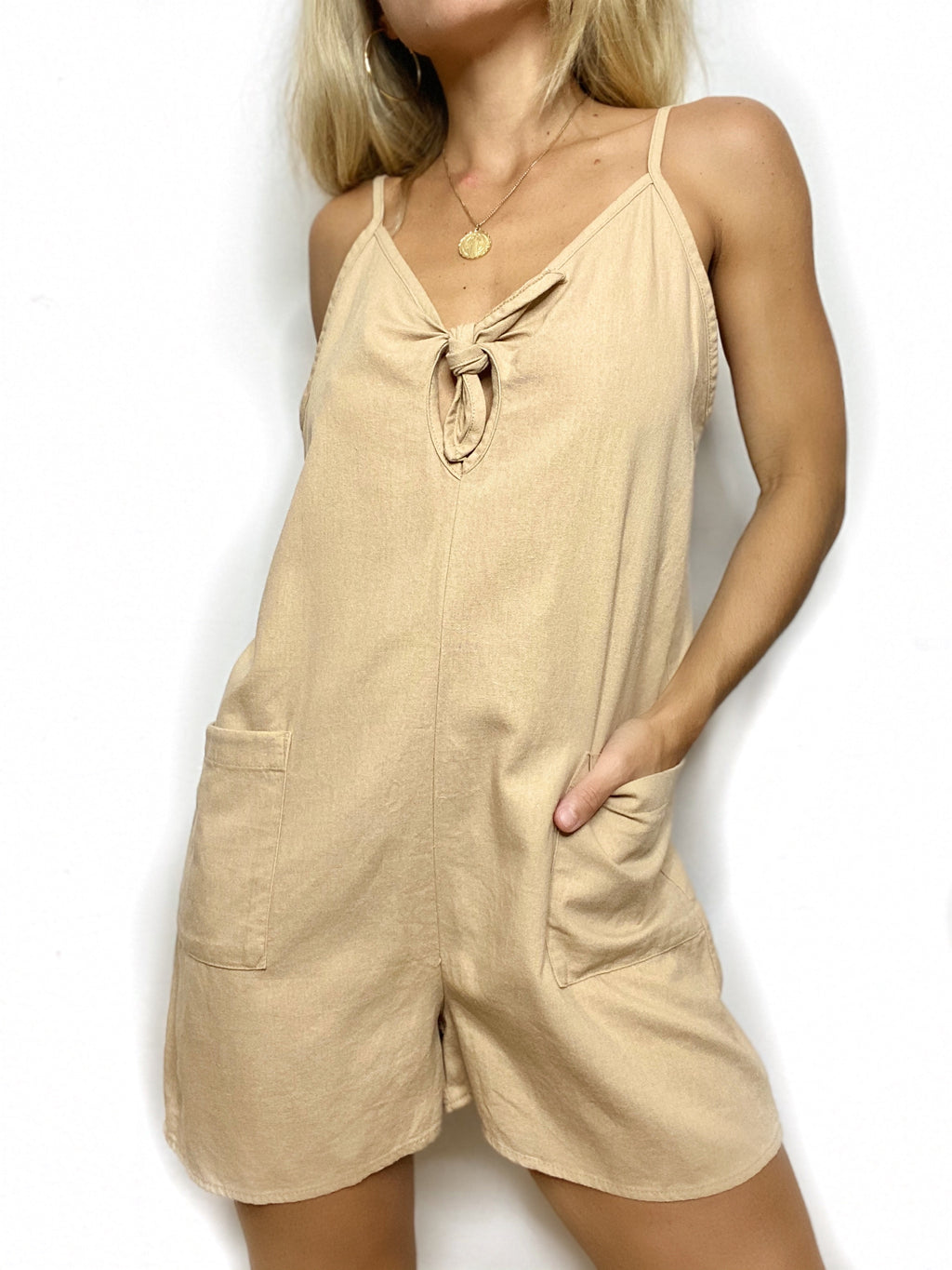Toffee Pocket Playsuit