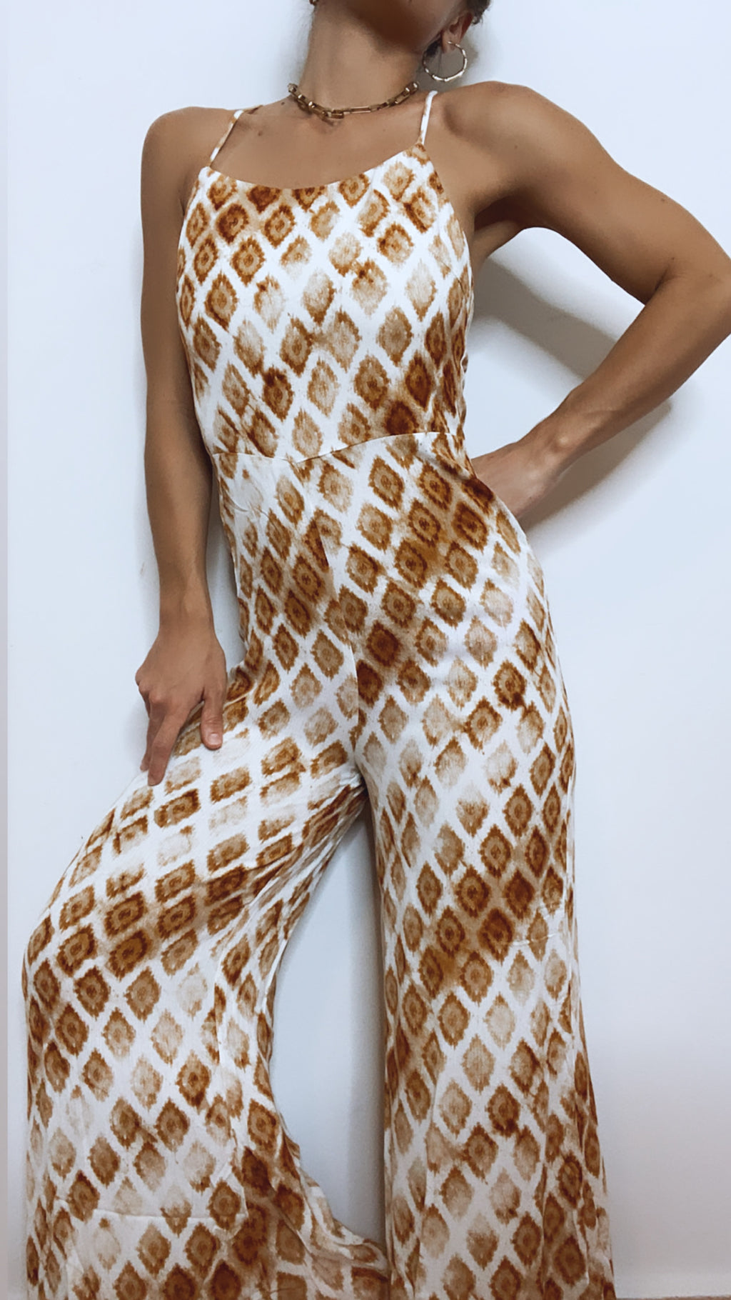 Orange Ombre Print Jumpsuit