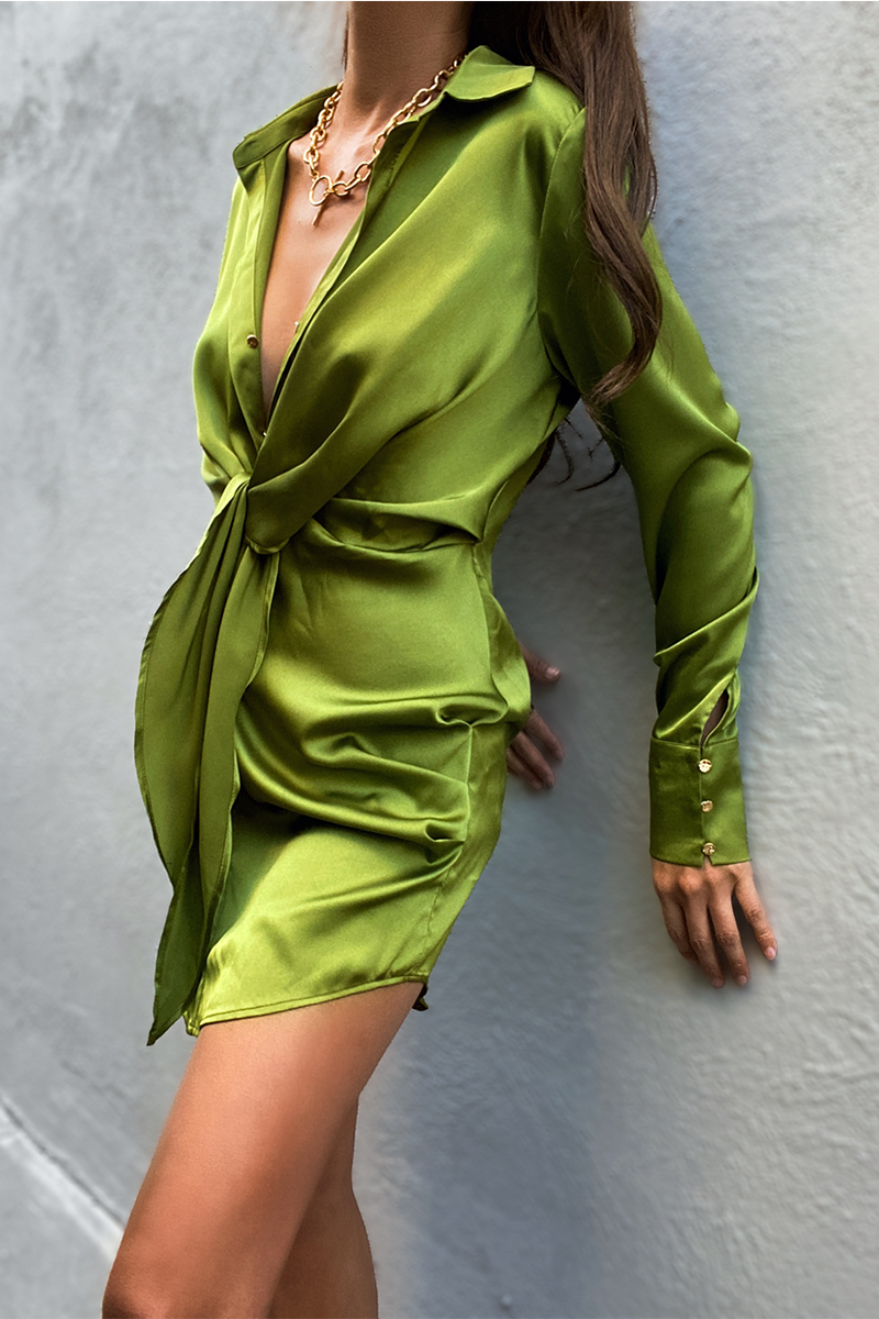 Ruby Green Shirt Dress