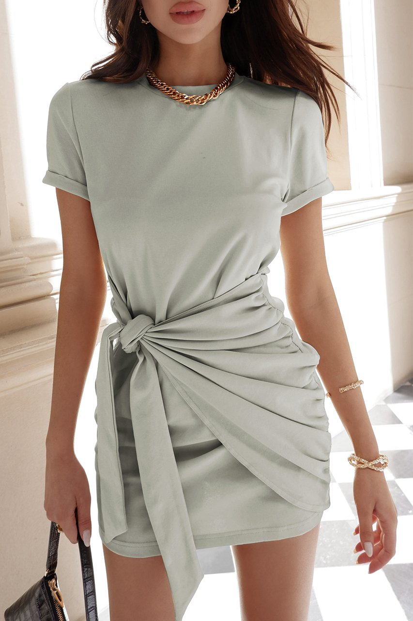 Sage Tied Up Shirt Dress