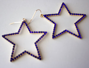 308 - Cowboy Blue Star earrings