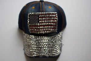 American Flag Bling Hat