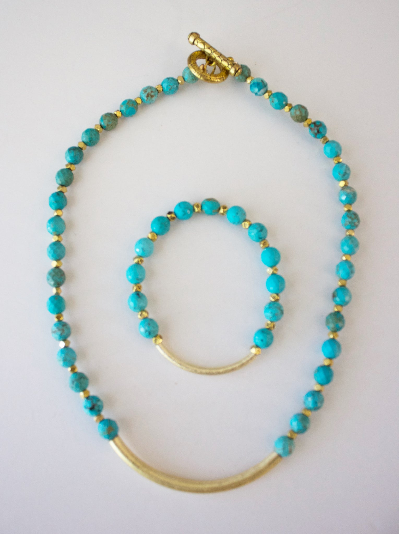 342 - Turquoise Barre Necklace Set