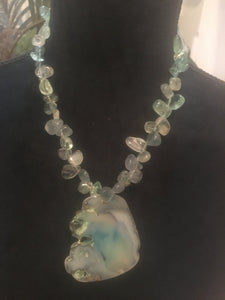 Sage Blue Agate Necklace