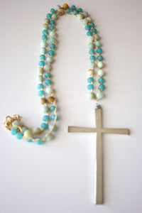 313 - A Simple Cross in Ocean Blue