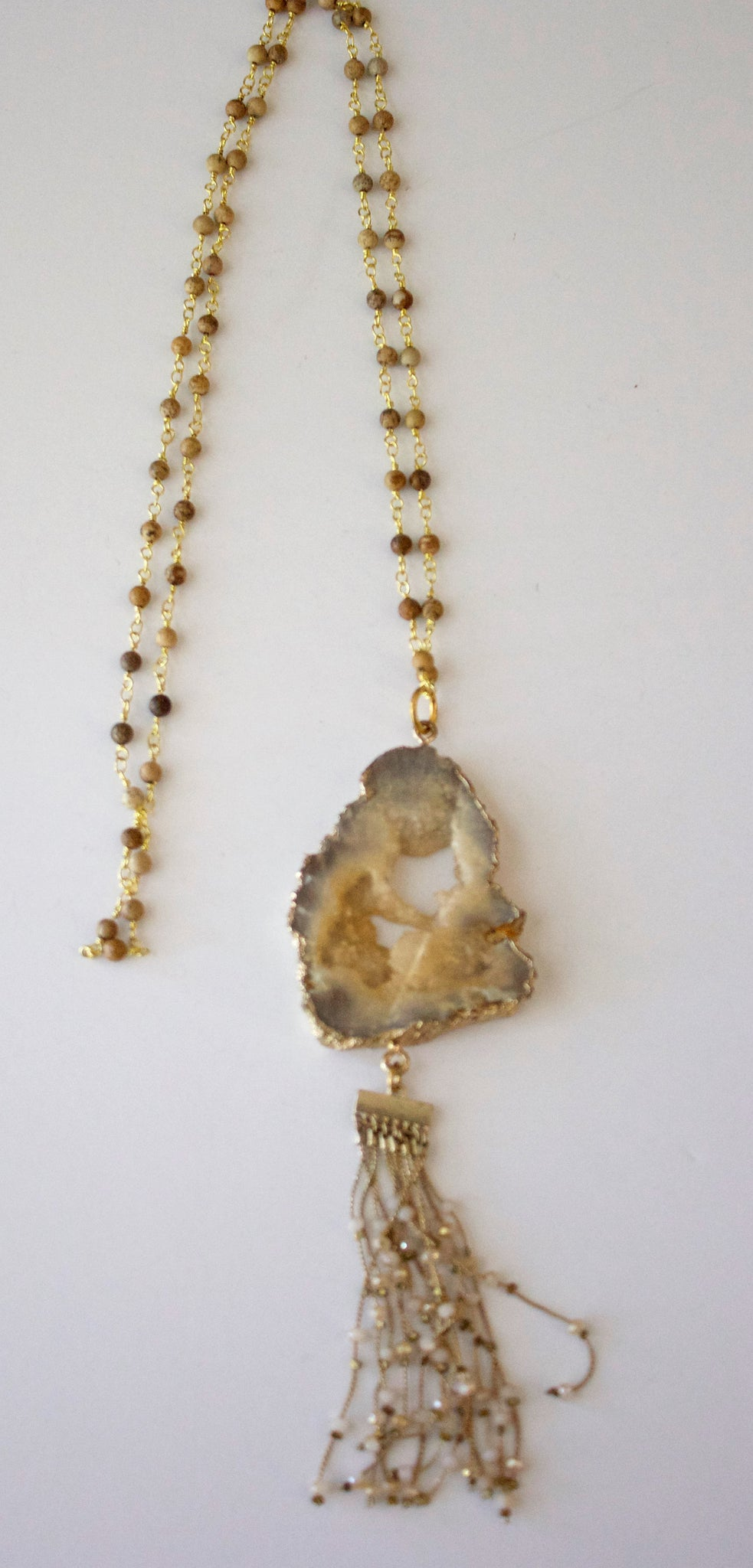 Taupe Agate Drop