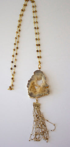 340 - Taupe Agate Drop