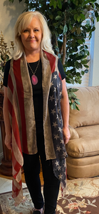 American Flag Shawl - Short