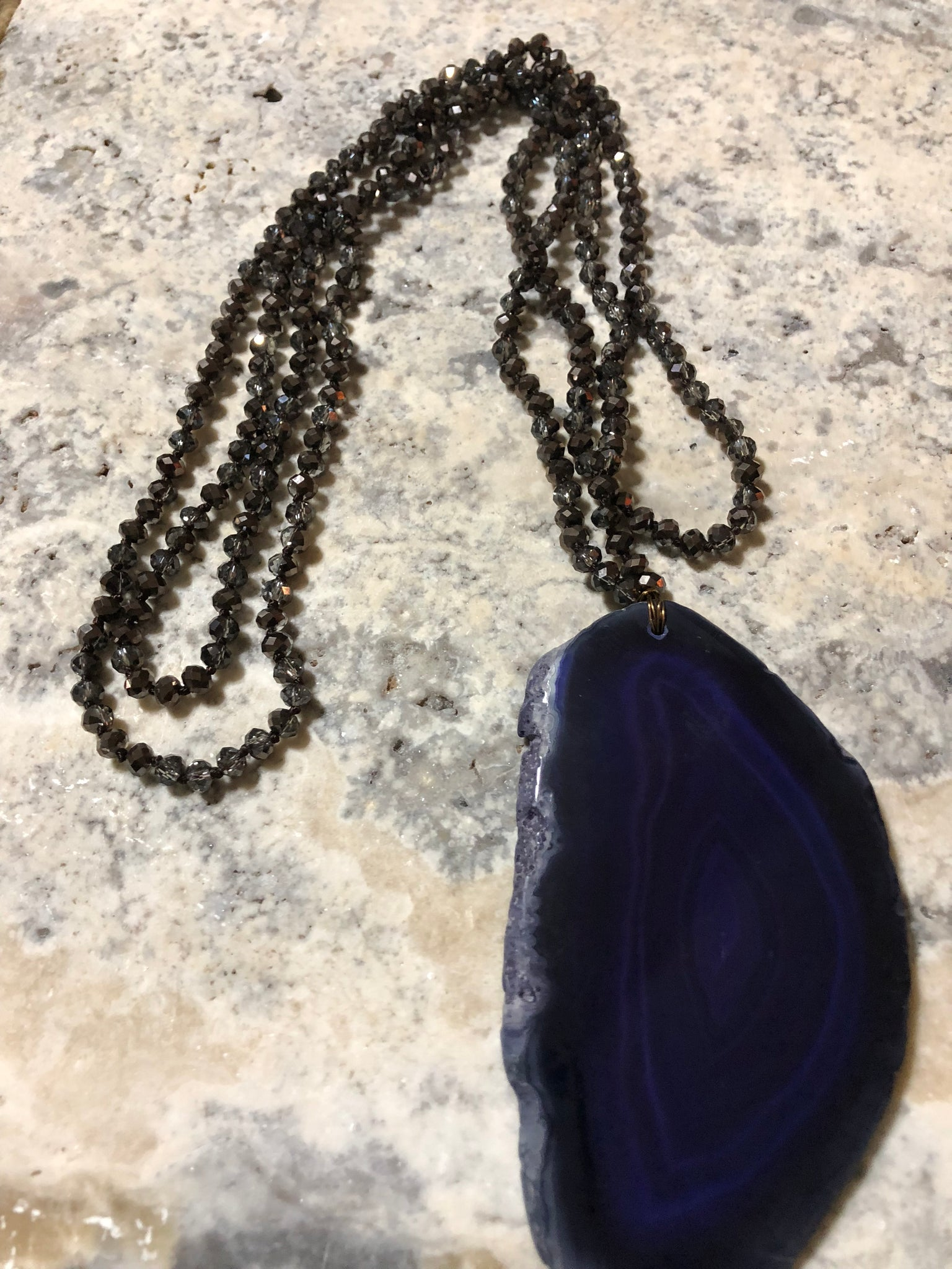 Deep Royale Purple Agate