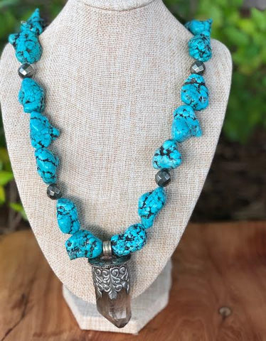 Large Tibetan Turquoise Necklace
