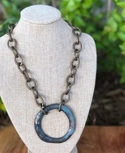 """O"" Patina Necklace"