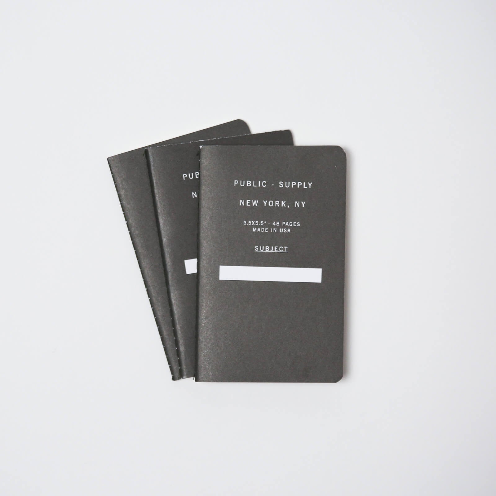 3.5 x 5.5 - 48 Pages Ruled - Black 01