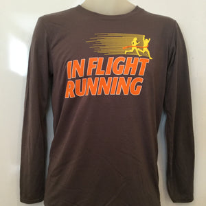 2016-17 In Flight Running Gildan Unisex Smokey Gray Long Sleeve T-shirt - Dry Fit