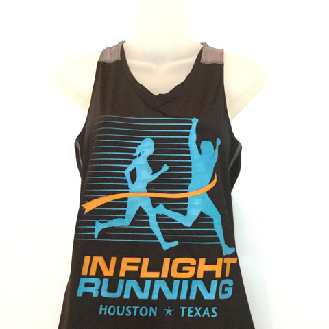 2016-17 In Flight Running Women's Team Tank -  Augusta Dry Fit - New Logo - Black/Gray