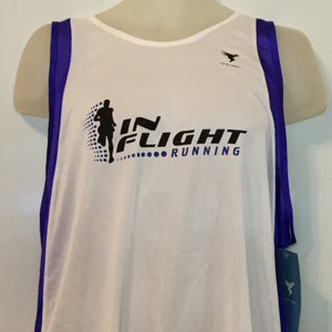 2005-06 In Flight Running Men's Team Tank -  Insport Dry Fit - White/Blue