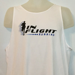2004-05 In Flight Running Men's Team Tank -  Insport Dry Fit - White