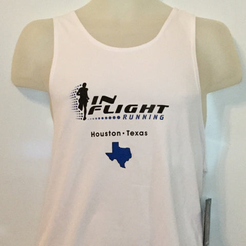 2007-08 In Flight Running Men's Team Tank -  BOA Dry Fit - White