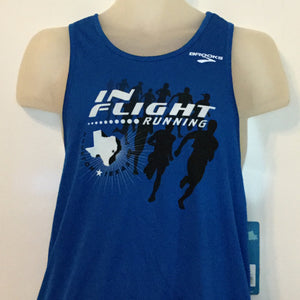 2012-13 In Flight Running Men's Team Tank -  Brooks Dry Fit - Running Squad - Blue