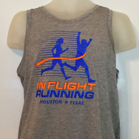 2015-16 In Flight Running Men's Team Tank -  Brooks Dry Fit - New Logo - Light Gray