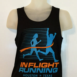 2016-17 In Flight Running Men's Team Tank -  Augusta Dry Fit - New Logo - Black