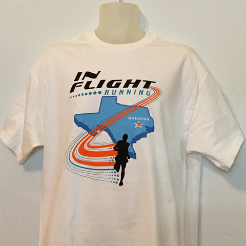 In Flight Running - Puma Unisex White Texas T-shirt - 100% Cotton