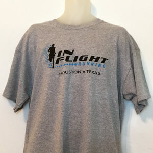 In Flight Running - Gildan Unisex Sport Gray T-shirt - 50/50
