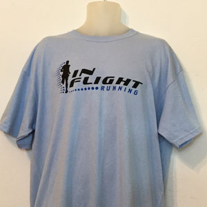 In Flight Running - Gildan Unisex Light Blue T-shirt - 50/50