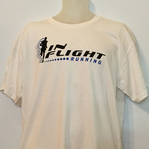 In Flight Running - Gildan Unisex Natural Off White T-shirt - 50/50