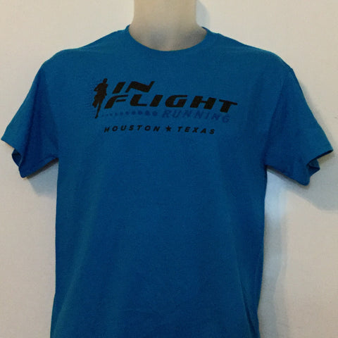 In Flight Running - Gildan Unisex Sapphire Blue T-shirt - 50/50