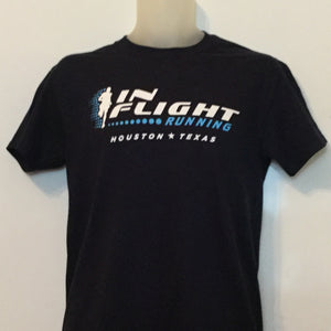 In Flight Running - Gildan Unisex Navy Blue T-shirt - 50/50