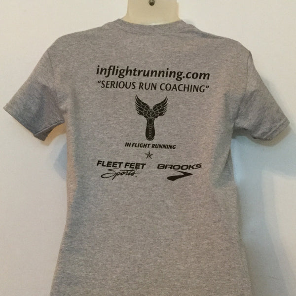In Flight Running - Gildan Unisex Sport Gray 10th Anniversary T-shirt - 50/50