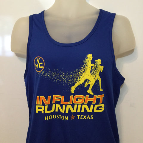 2017-18 In Flight Running Men's Team Tank -  Augusta Dry Fit - Disintegrating Runner - Royal Blue