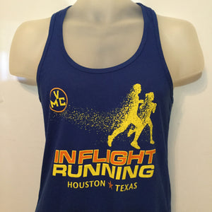2017-18 In Flight Women's Tank -  Next Level Dry Fit - Disintegrating Runner - Royal Blue