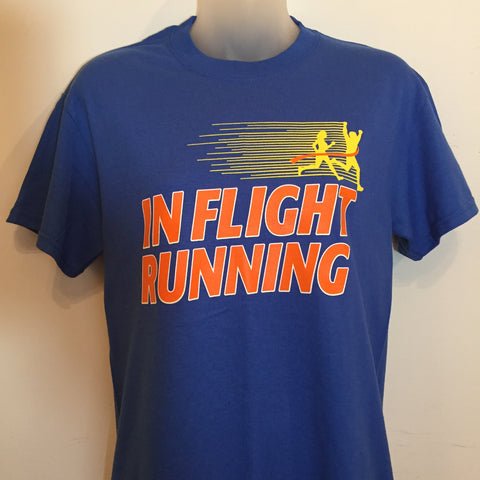 2016-17 In Flight Gildan Unisex Royal Blue T-shirt - 50/50 Front