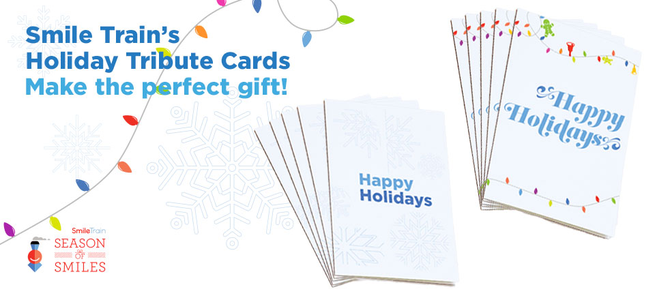 Smile Train Holiday Cards