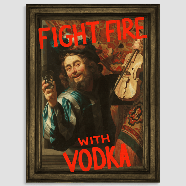 Fight Fire with Vodka Canvas Print