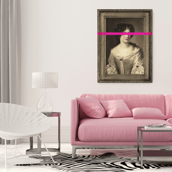 Wall Art for White Walls | Pink Home Decor
