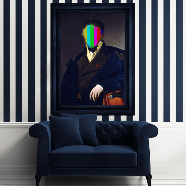 Sir Splat Canvas Print - Pop Art Decor Ideas - Striped Walls